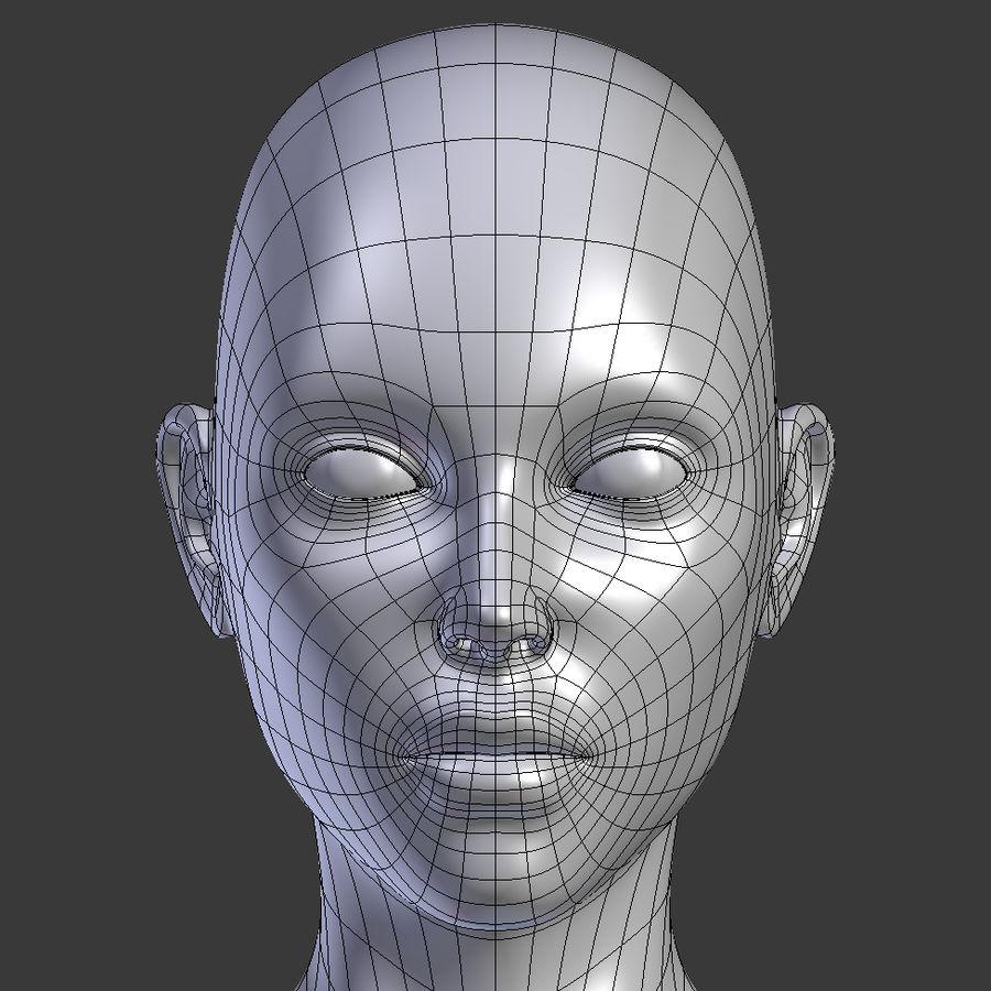 ベースメッシュの女性トポロジ royalty-free 3d model - Preview no. 10