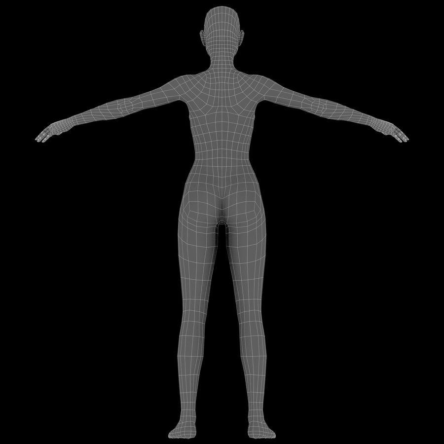 ベースメッシュの女性トポロジ royalty-free 3d model - Preview no. 20