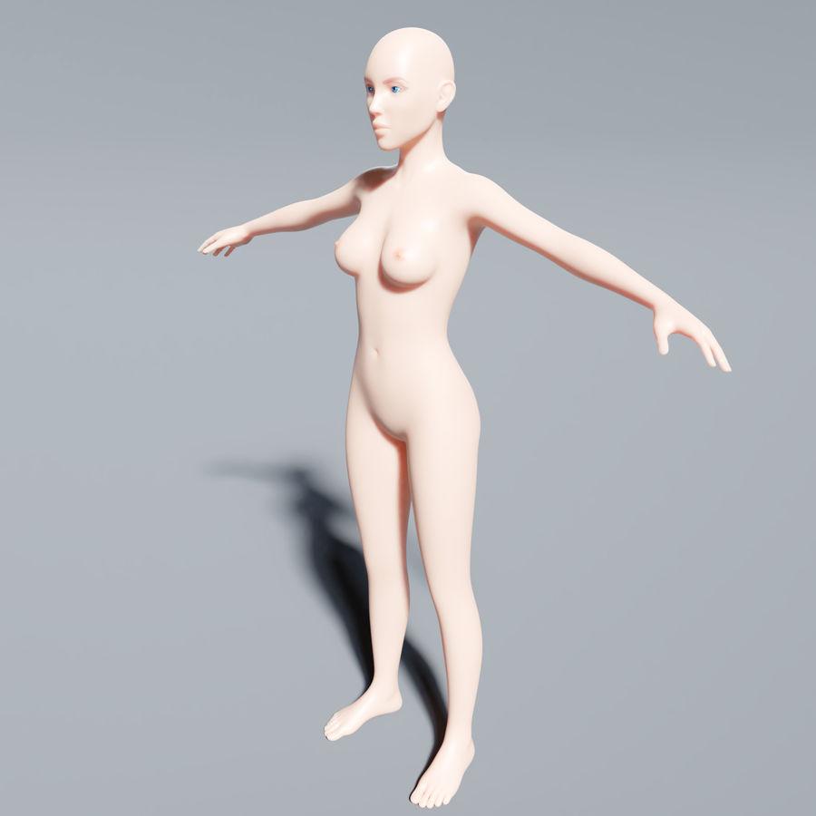 ベースメッシュの女性トポロジ royalty-free 3d model - Preview no. 9