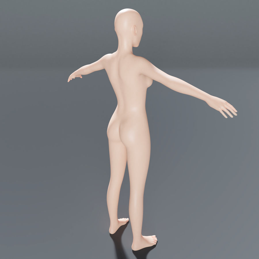 ベースメッシュの女性トポロジ royalty-free 3d model - Preview no. 5