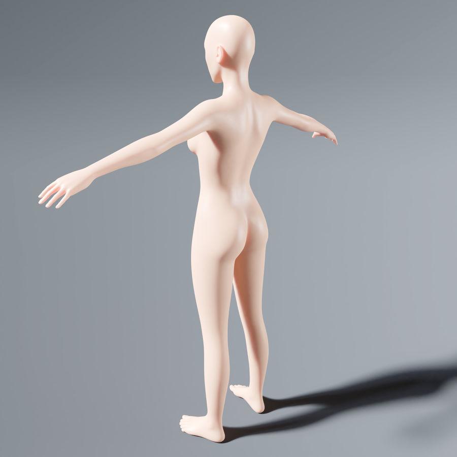 ベースメッシュの女性トポロジ royalty-free 3d model - Preview no. 7