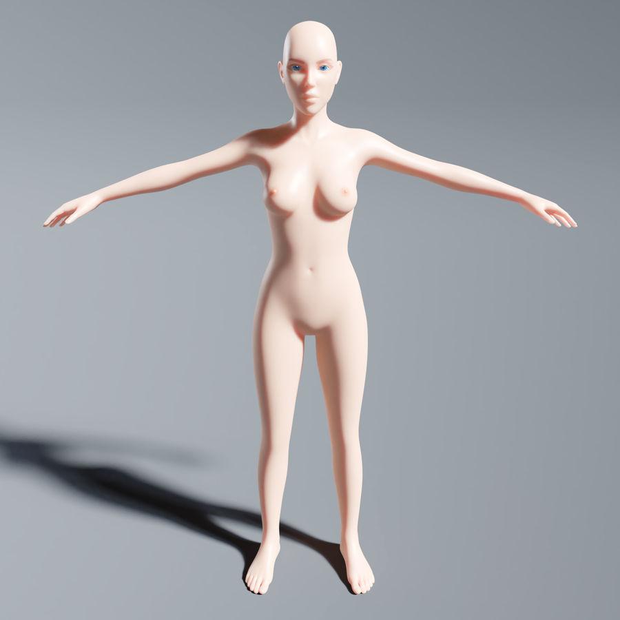 ベースメッシュの女性トポロジ royalty-free 3d model - Preview no. 2