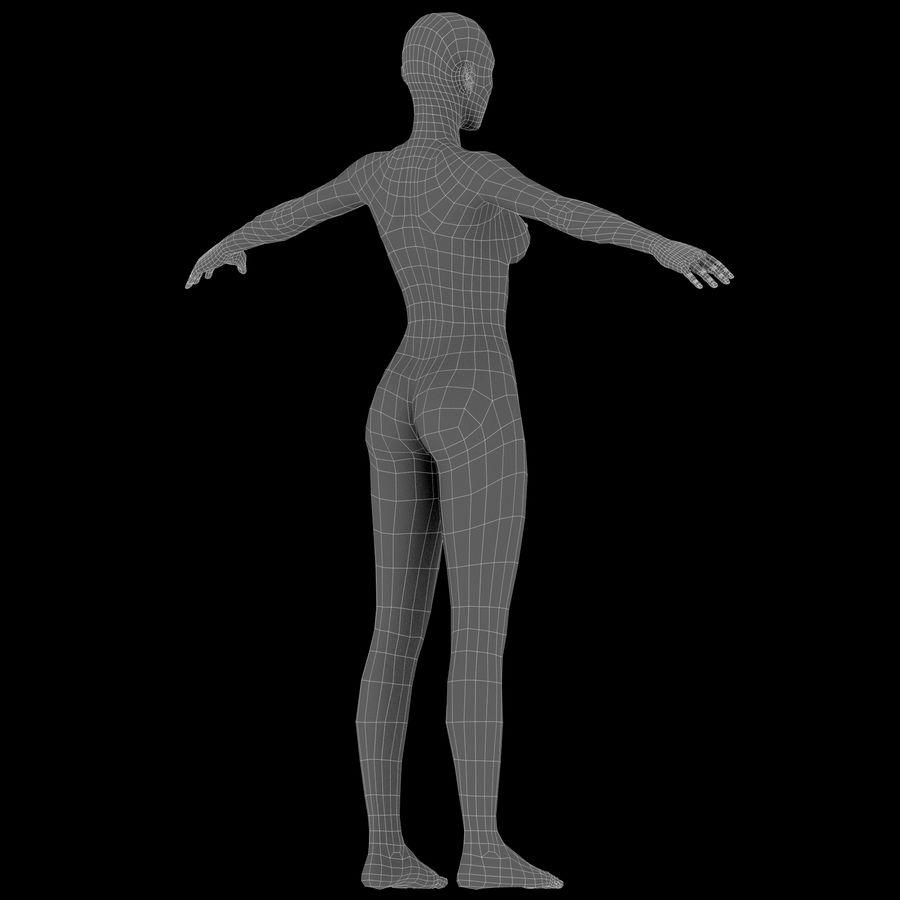 ベースメッシュの女性トポロジ royalty-free 3d model - Preview no. 19