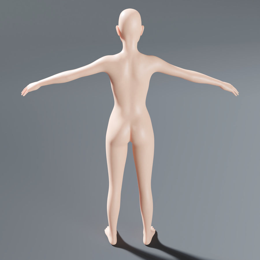ベースメッシュの女性トポロジ royalty-free 3d model - Preview no. 6