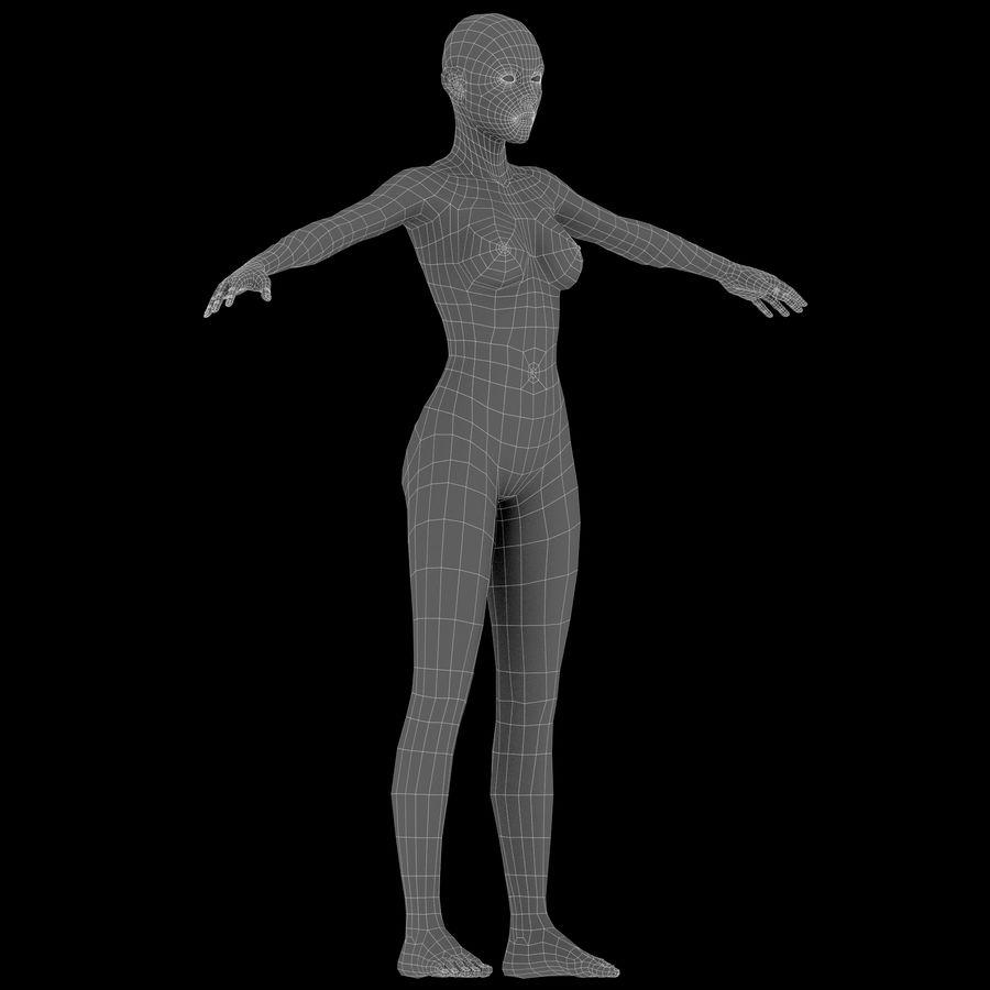 ベースメッシュの女性トポロジ royalty-free 3d model - Preview no. 17