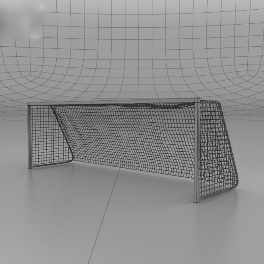 Soccer Goal royalty-free 3d model - Preview no. 3
