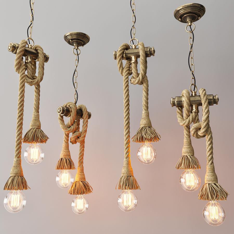 Lámpara colgante estilo loft 2 royalty-free modelo 3d - Preview no. 2