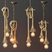 Loft style pendant lamp 2 3d model
