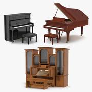 Keyboard Instruments 3D Models Collection 3d model