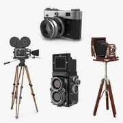 Coleção de modelos 3D de câmeras de filme vintage 2 3d model
