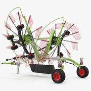 Twin Rotor Hay Rake Claas Liner 2700 riggad 3d model