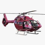 Airbus Helicopters H145 z wyposażeniem w kokpit 3d model