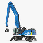 Terex Fuchs MHL360 Material Handler Rigged 3D Model 3d model