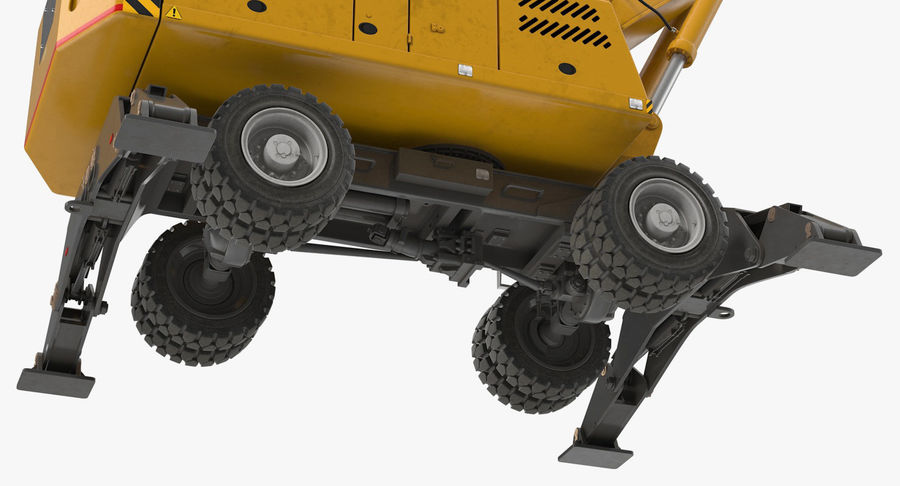 Wheeled Excavator Generic royalty-free 3d model - Preview no. 14