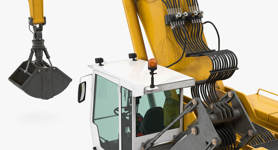 Wheeled Excavator Generic royalty-free 3d model - Preview no. 11