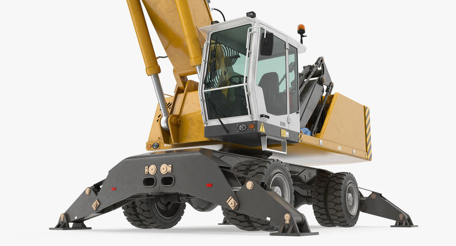 Wheeled Excavator Generic royalty-free 3d model - Preview no. 8