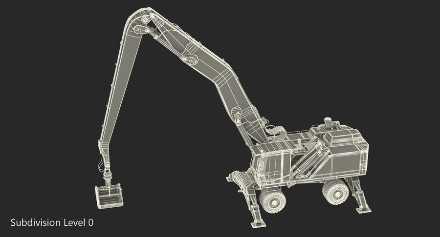 Wheeled Excavator Generic royalty-free 3d model - Preview no. 17