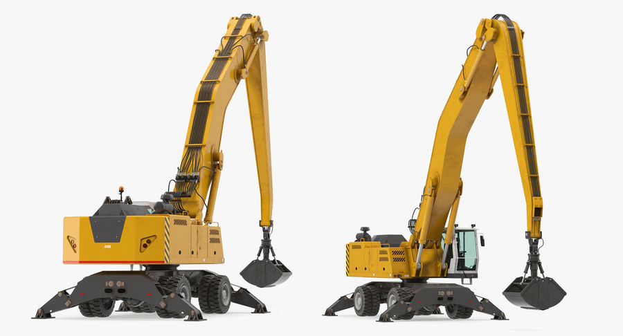 Wheeled Excavator Generic royalty-free 3d model - Preview no. 6