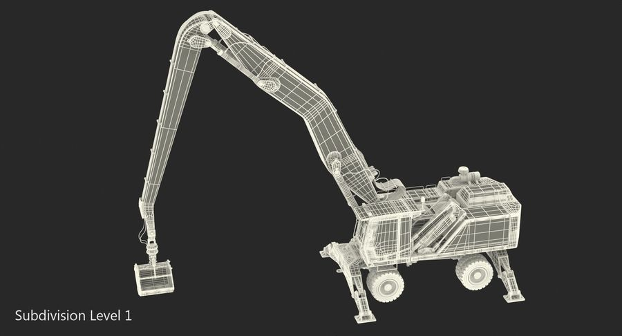 Wheeled Excavator Generic royalty-free 3d model - Preview no. 18