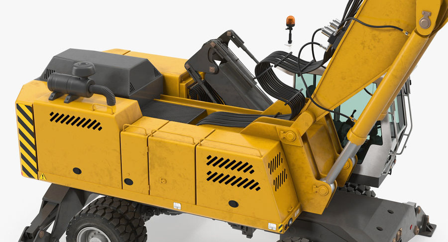 Wheeled Excavator Generic royalty-free 3d model - Preview no. 9