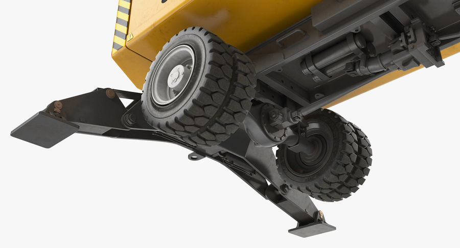 Wheeled Excavator Generic royalty-free 3d model - Preview no. 15