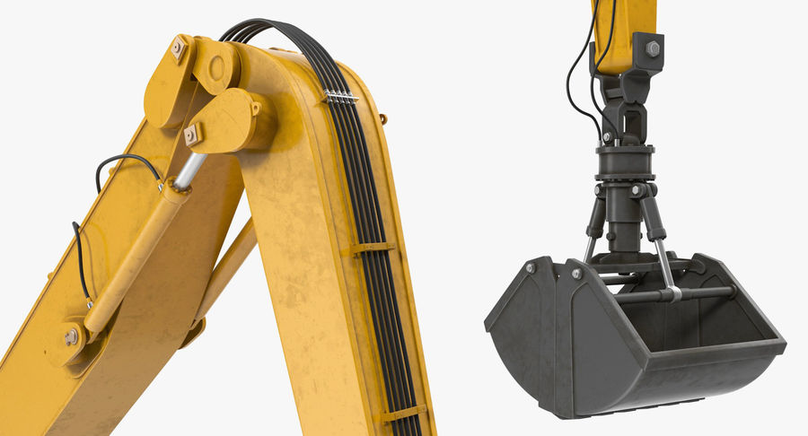 Wheeled Excavator Generic royalty-free 3d model - Preview no. 13
