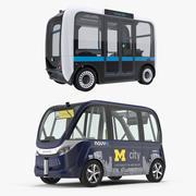 自動運転バス3Dモデルコレクション 3d model