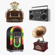 Retro Audio Devices Collection 3d model