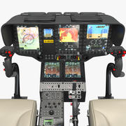 Airbus H145 Helicopter Cockpit 3d model