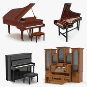 Musical Keyboard Instruments Collection 3 3d model