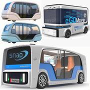 Üç Elektrikli Otobüs Koleksiyonu 3d model