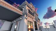 classic villa house 3d model