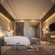 호텔 룸 (3) 3d model