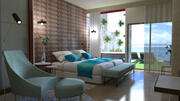 Interiör lägenhetshotell 3d model