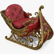 圣诞老人雪橇 3d model