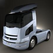 三菱扶桑牵引车2004 3d model