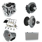 Collectie auto-onderdelen 3d model