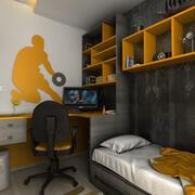青少年室 3d model