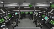 Интерьер башни воздушного движения 3d model