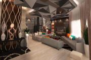 带图纸的现代客厅 3d model