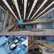 Centre commercial 02 3d model