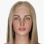 Vrouw Jean 3d model
