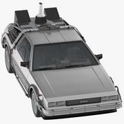 回到未来DeLorean驾驶 3d model