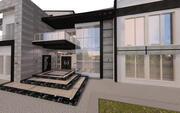具有完整建筑图纸的现代住宅别墅 3d model