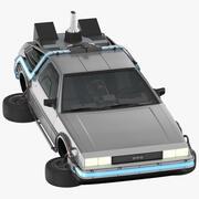 DeLorean Flying 3d model
