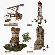 Medieval guard tower 3d model