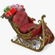 Noel Baba Kızak Hediyeleri 3d model