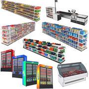 食料品店コレクション 3d model