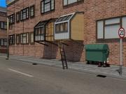 scène de pods sans-abri 3d model
