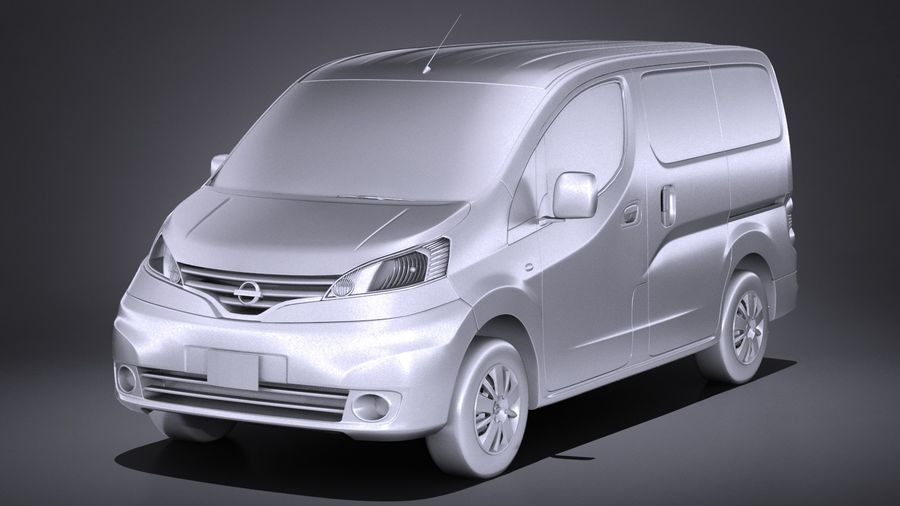 Nissan NV200 2010-2018 royalty-free 3d model - Preview no. 9